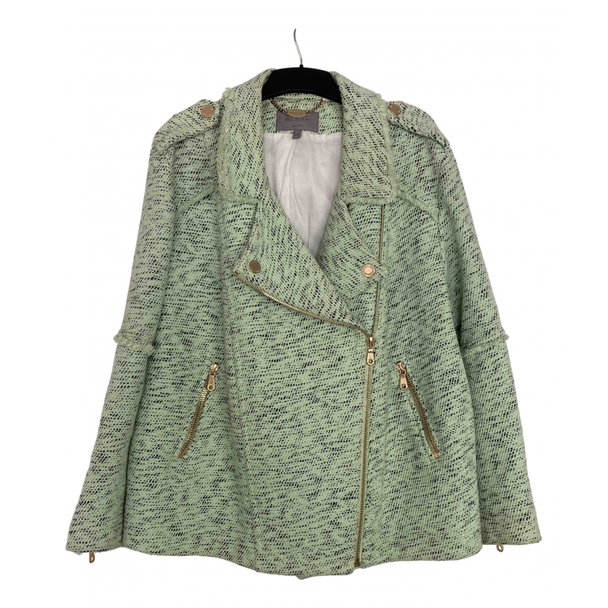Mulberry N Green Cotton jacket for Women 12 UK