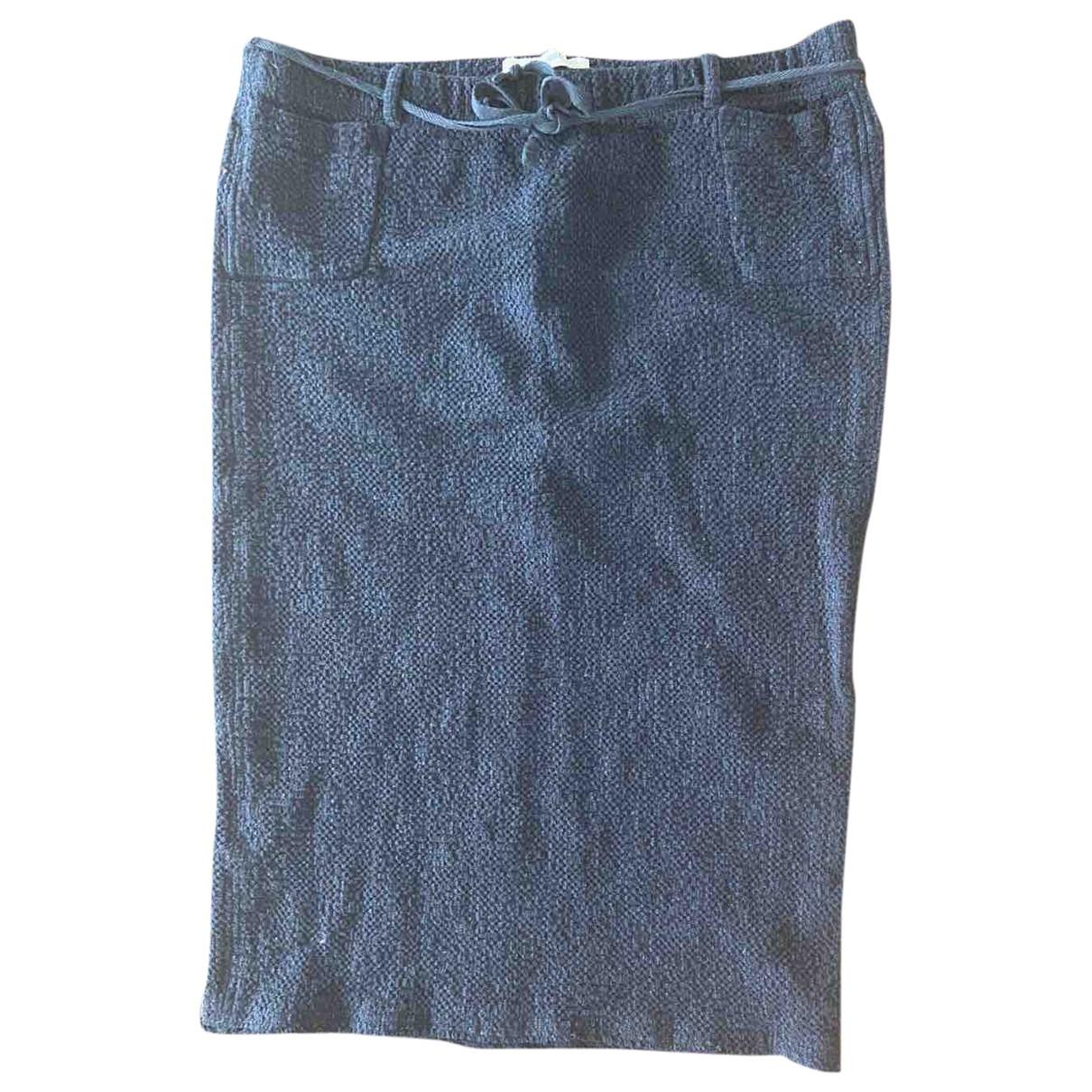 Humanoid - Jupe   pour femme en coton - elasthane - noir