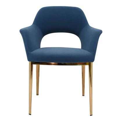Carmel Collection EJ-1035-45 Dining Chair with Steel Legs in Blue