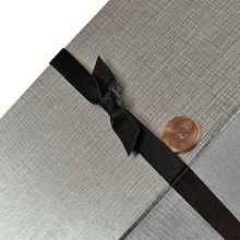 Bulk Ribbon - Black Satin Bow Stretch Loops - 7/16 X 10 - Quantity: 200 - Polyethylene Ribbons - Maximumstretch: 7 by Paper Mart