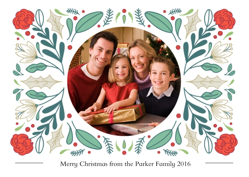 Holiday Photo Cards 5x7 Cards, Premium Cardstock 120lb with Rounded Corners, Card & Stationery -Bunches of Festive Fun