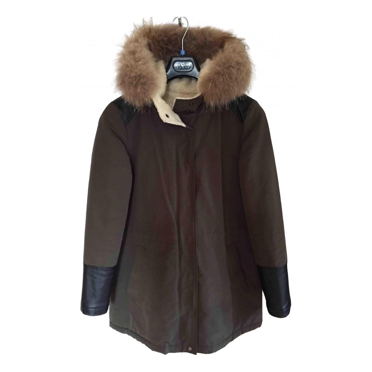 Pablo N Khaki Leather jacket for Women 36 FR