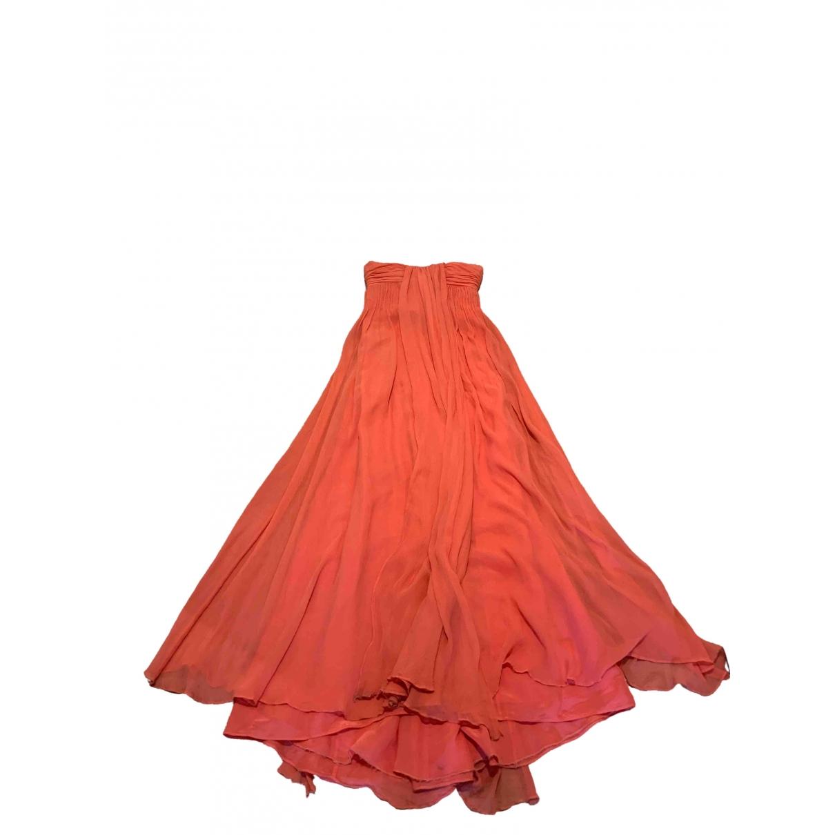 Halston Heritage \N Kleid in  Rosa Seide