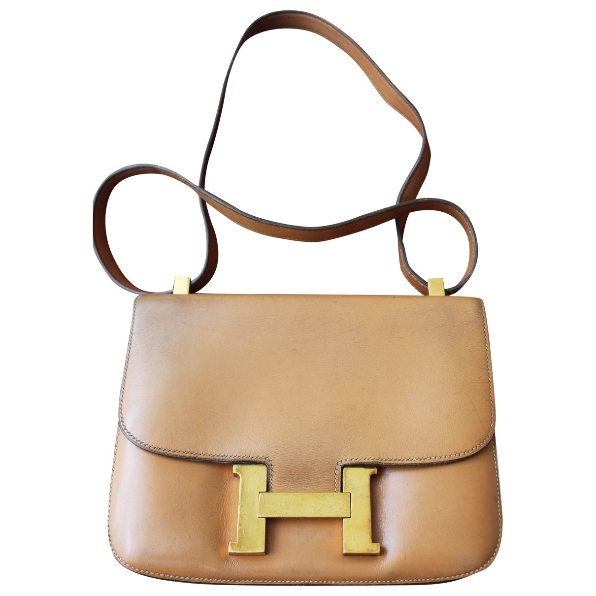 Hermès Constance Camel Leather handbag for Women \N