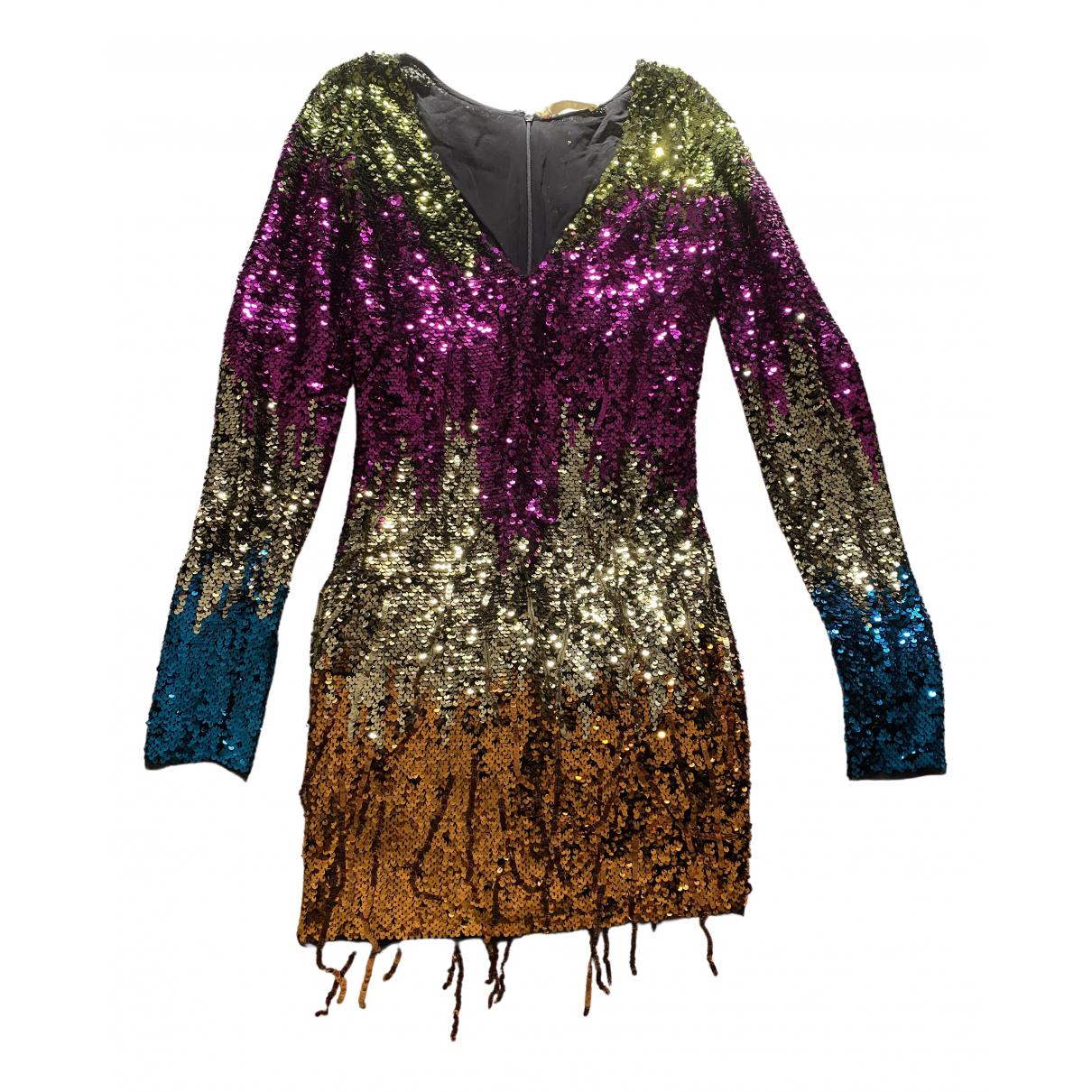 Amen Italy - Robe   pour femme en a paillettes - multicolore