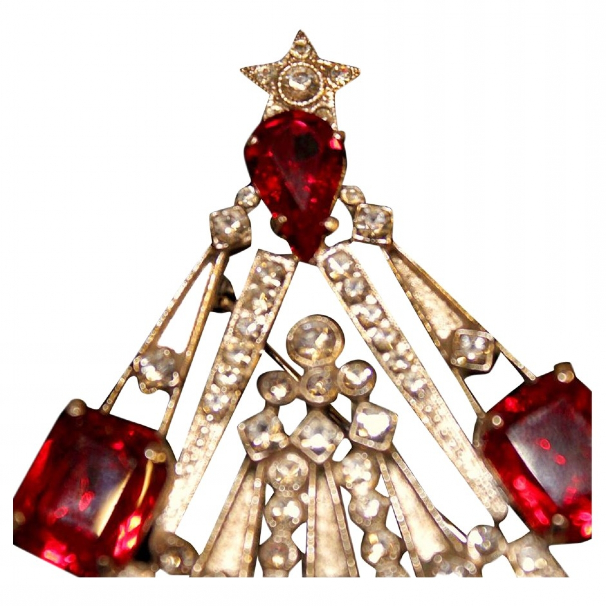Broche en Metal Rojo Carlo Zini