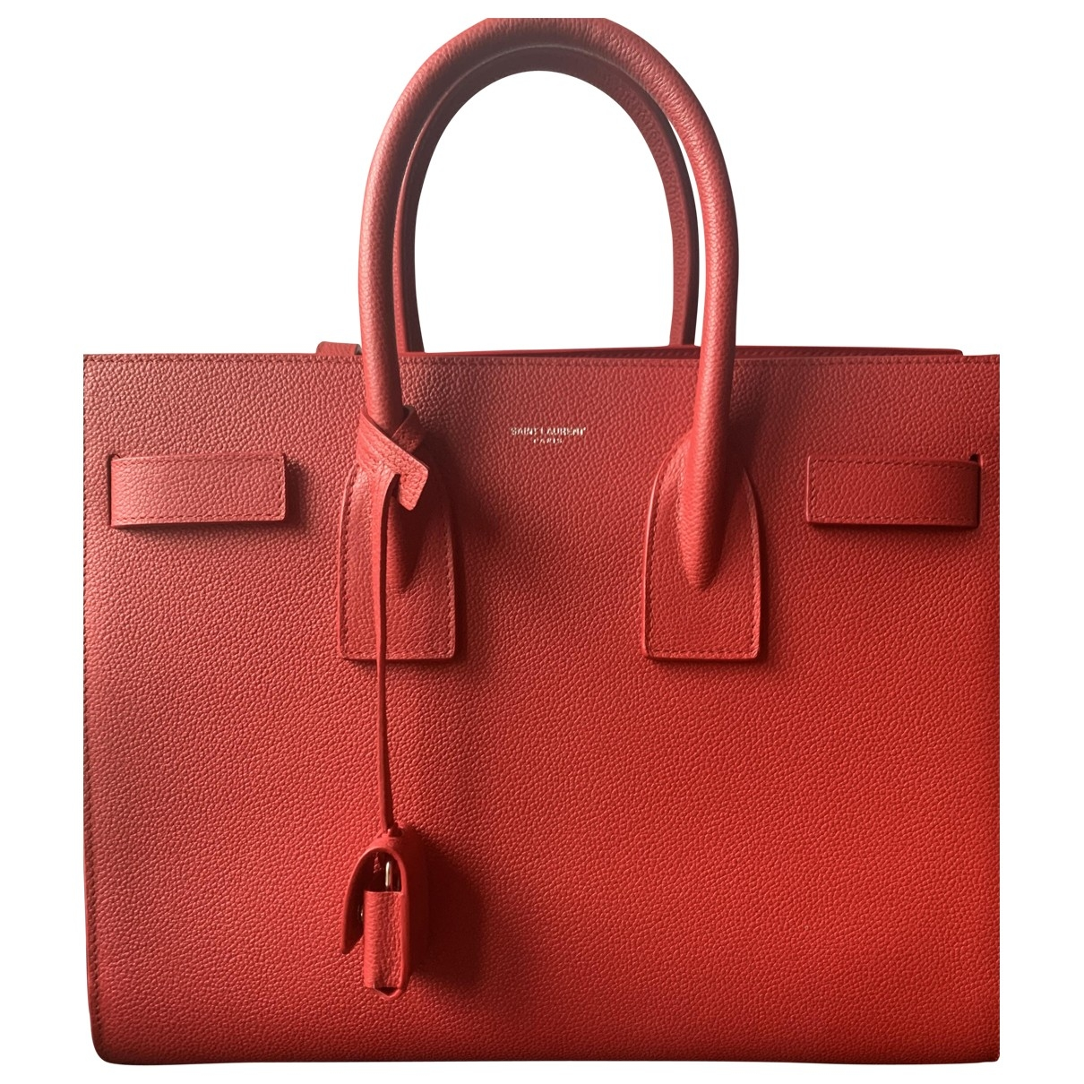 Saint Laurent Sac de Jour Handtasche in  Rot Leder