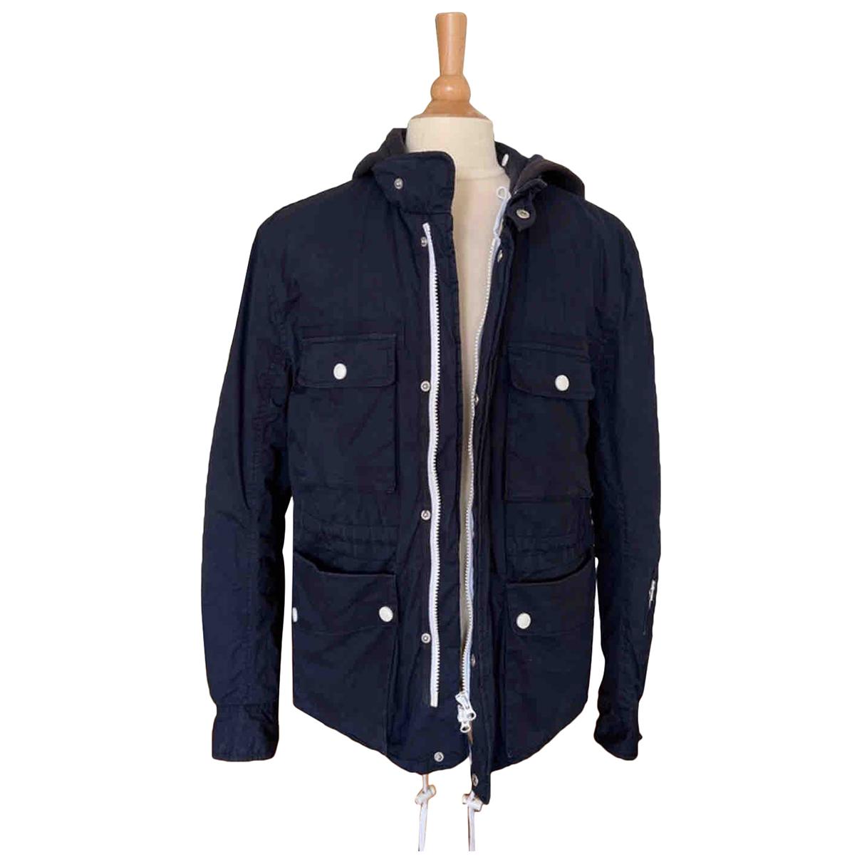 - Manteau   pour homme en coton - marine