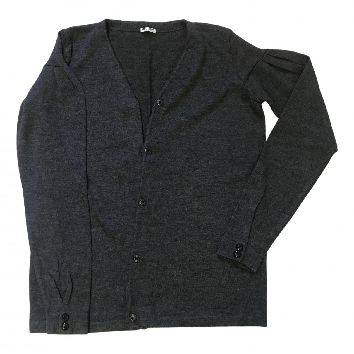 Miu Miu - Pull   pour femme en laine - gris