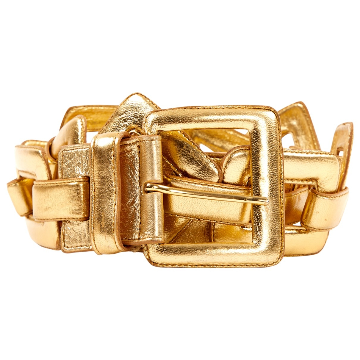 Genny \N Gold Leather belt for Women 90 cm