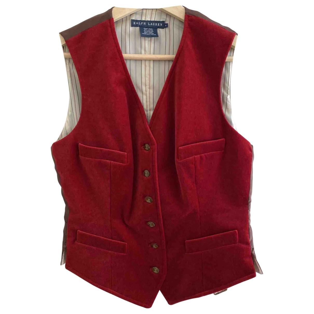 Ralph Lauren \N Red Cotton jacket for Women 6 US