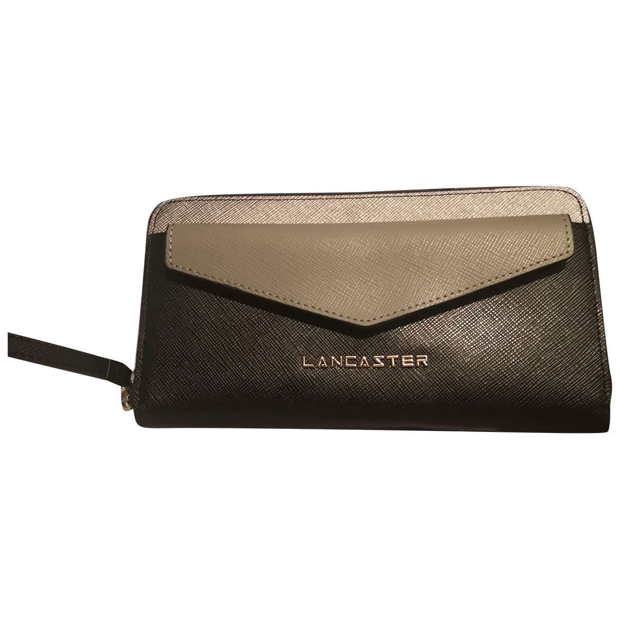 Lancaster \N Black Leather wallet for Women \N