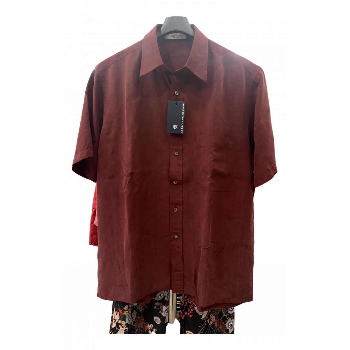 C.b. Made In Italy - Chemises   pour homme en soie - bordeaux