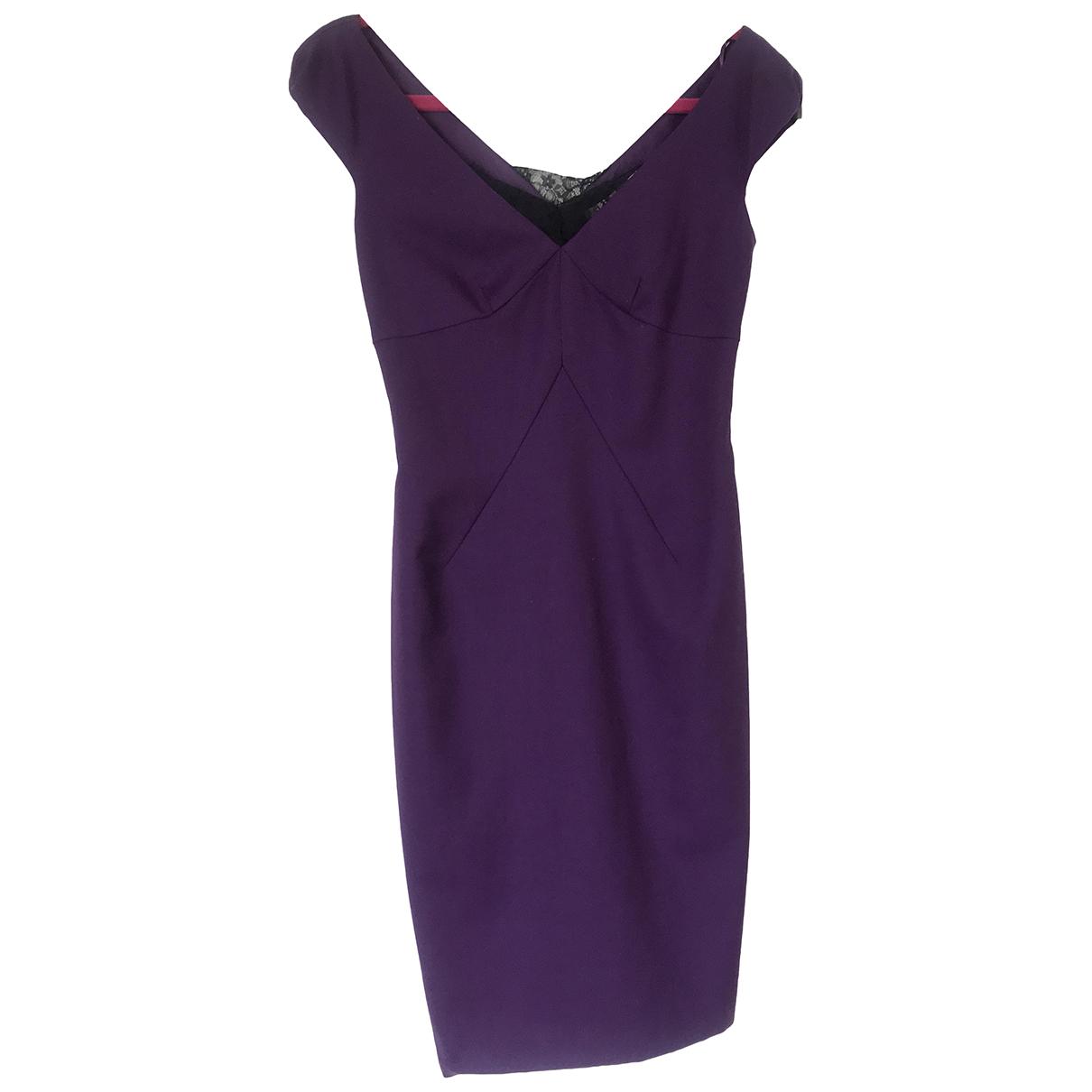 Lk Bennett \N Purple Wool dress for Women 8 UK