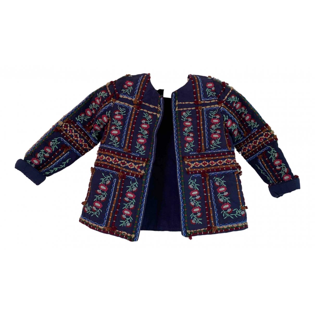 Zara - Blousons.Manteaux   pour enfant en coton - marine