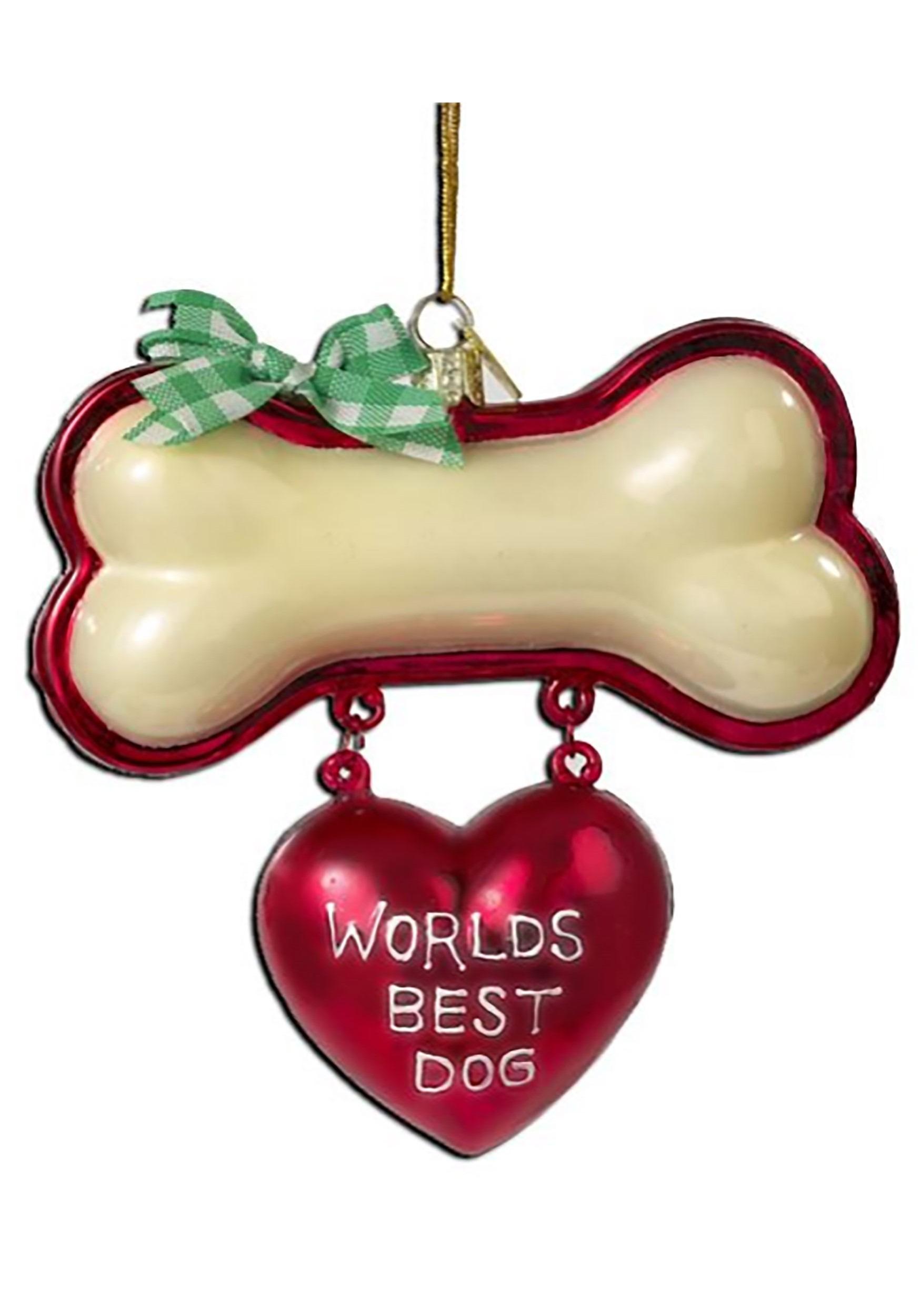 World's Best Dog Noble Gems Ornament