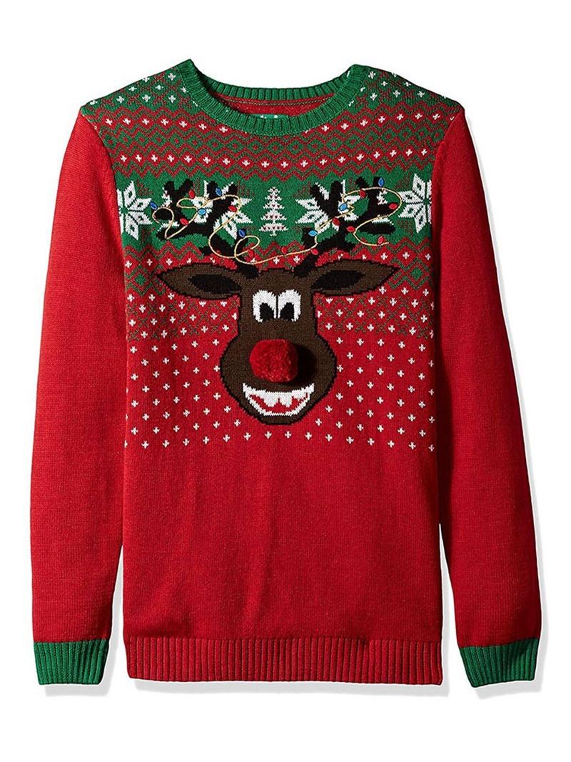 Ericdress Regular Regular Long Sleeve Standard Christmas Women's Sweater