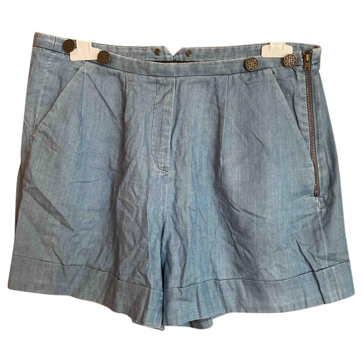 The Kooples \N Shorts in  Blau Baumwolle
