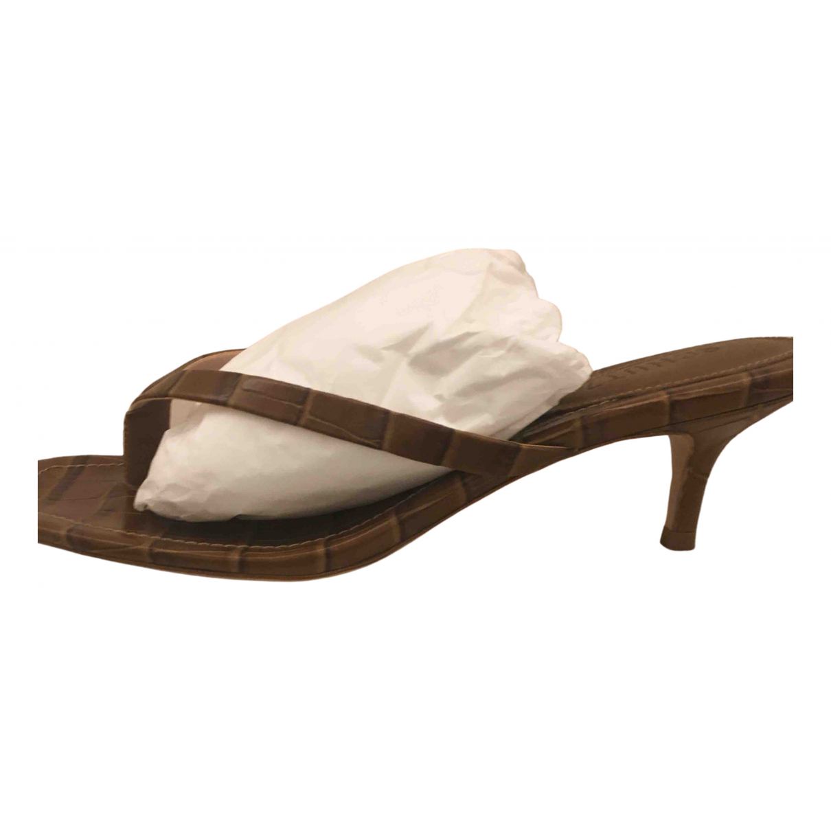 Schutz N Brown Leather Sandals for Women 8 US
