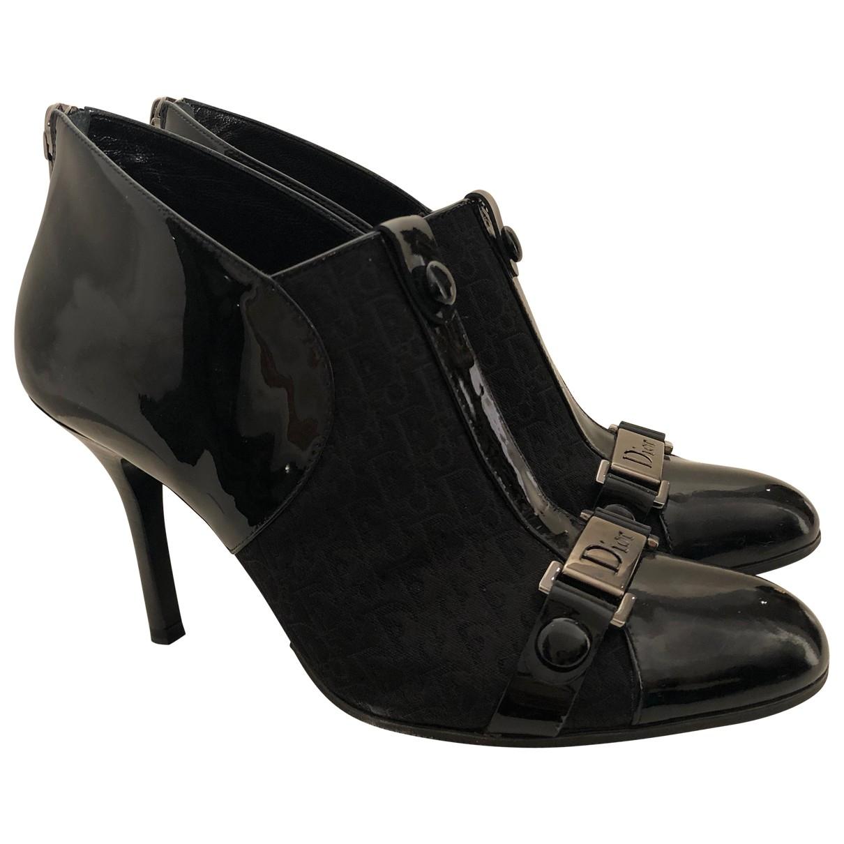 Dior \N Stiefeletten in  Schwarz Lackleder