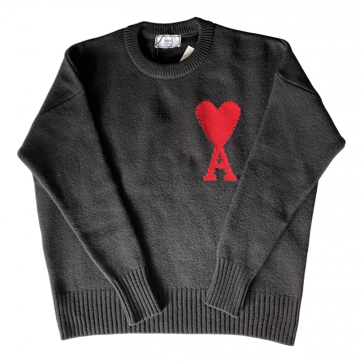 Ami \N Pullover.Westen.Sweatshirts  in  Schwarz Wolle