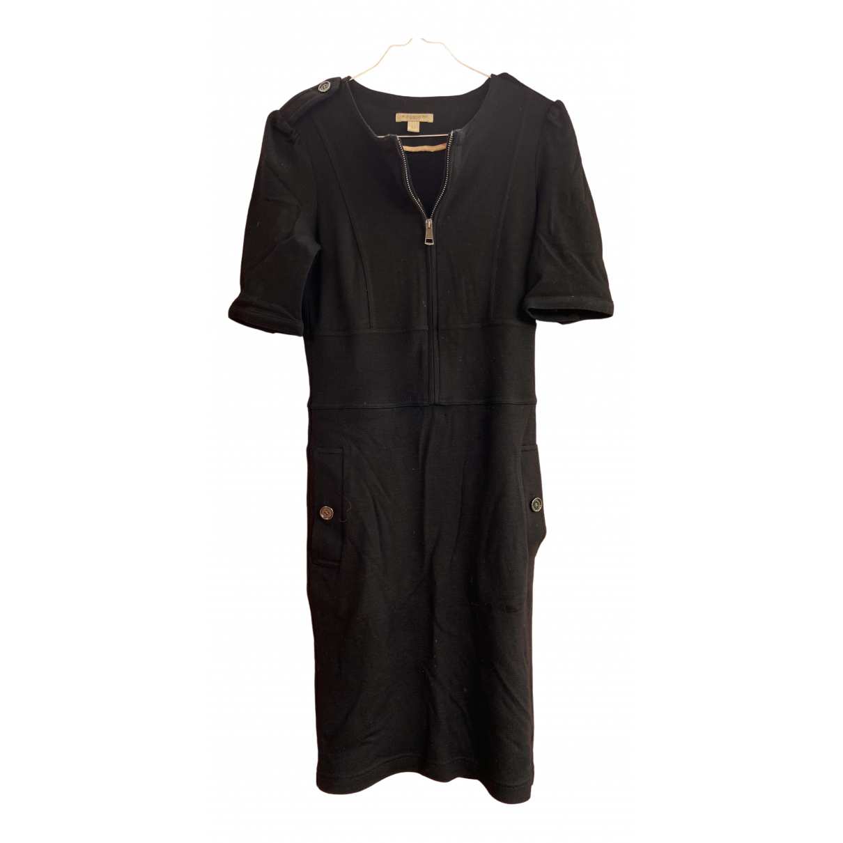 Burberry \N Kleid in  Schwarz Wolle