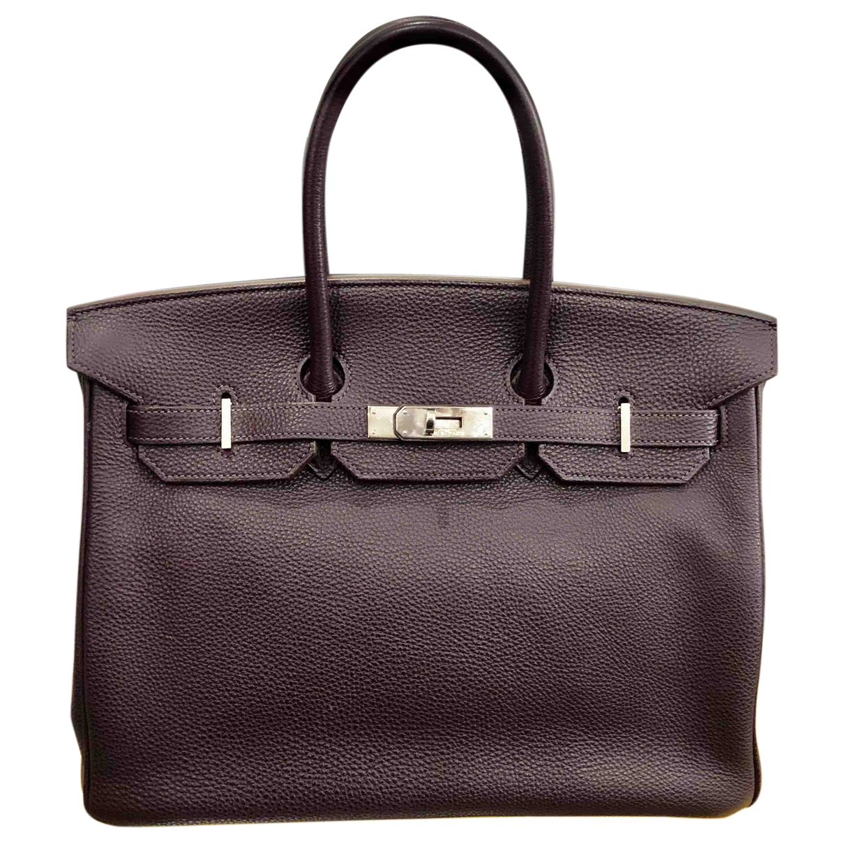 Hermès Birkin 35 Purple Leather handbag for Women N
