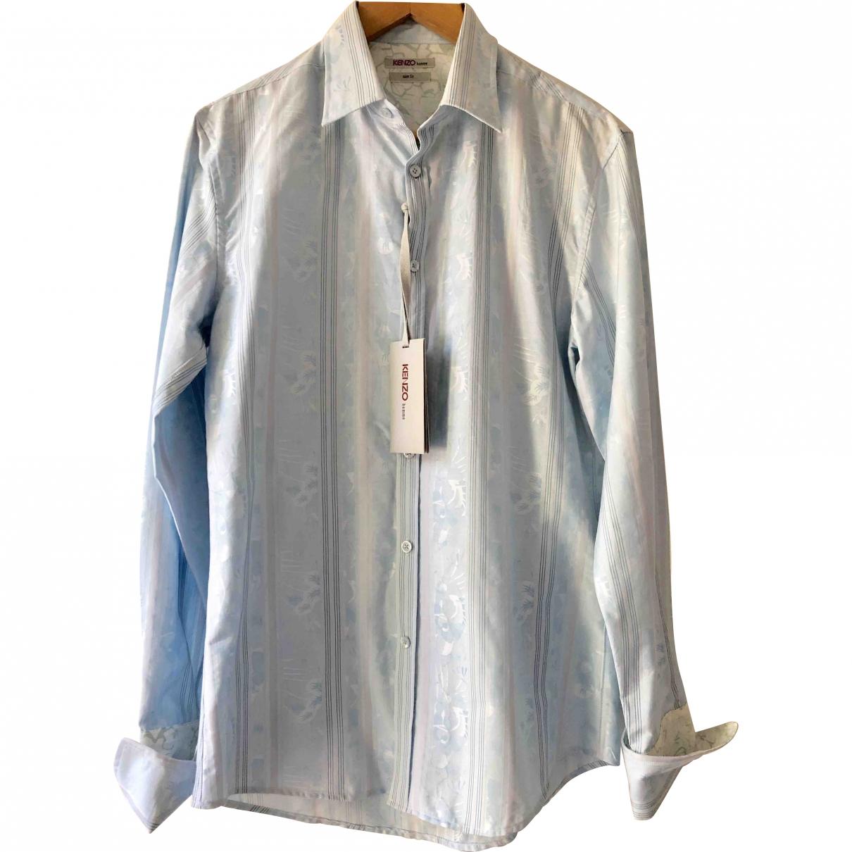 Kenzo \N Blue Cotton Shirts for Men 39 EU (tour de cou / collar)
