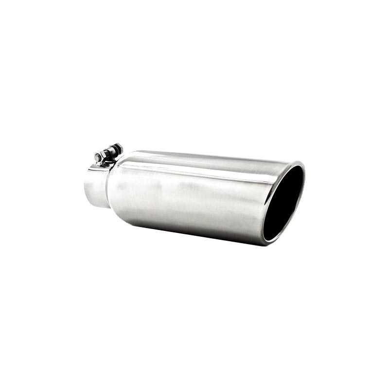 MBRP T5150 4 Inch OD 2.5 Inch Inlet 12 Inch Length Exhaust Tail Pipe TipAngled Cut Rolled End Clampless-No Weld T304 Stainless Steel