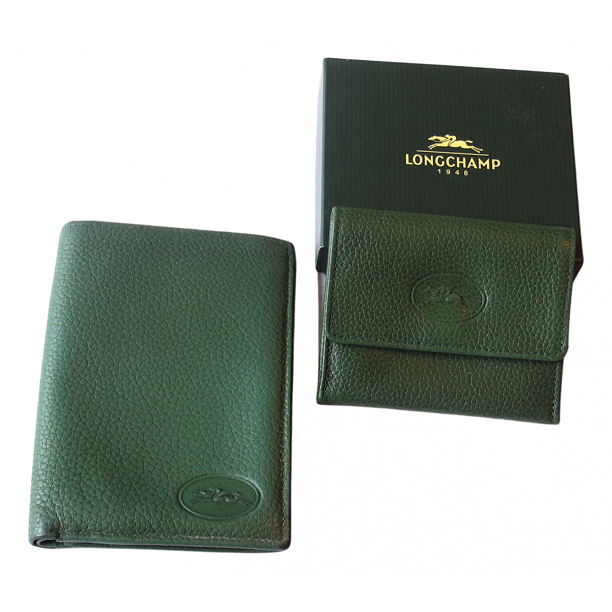 Longchamp N Green Leather Purses, wallet & cases for Women N