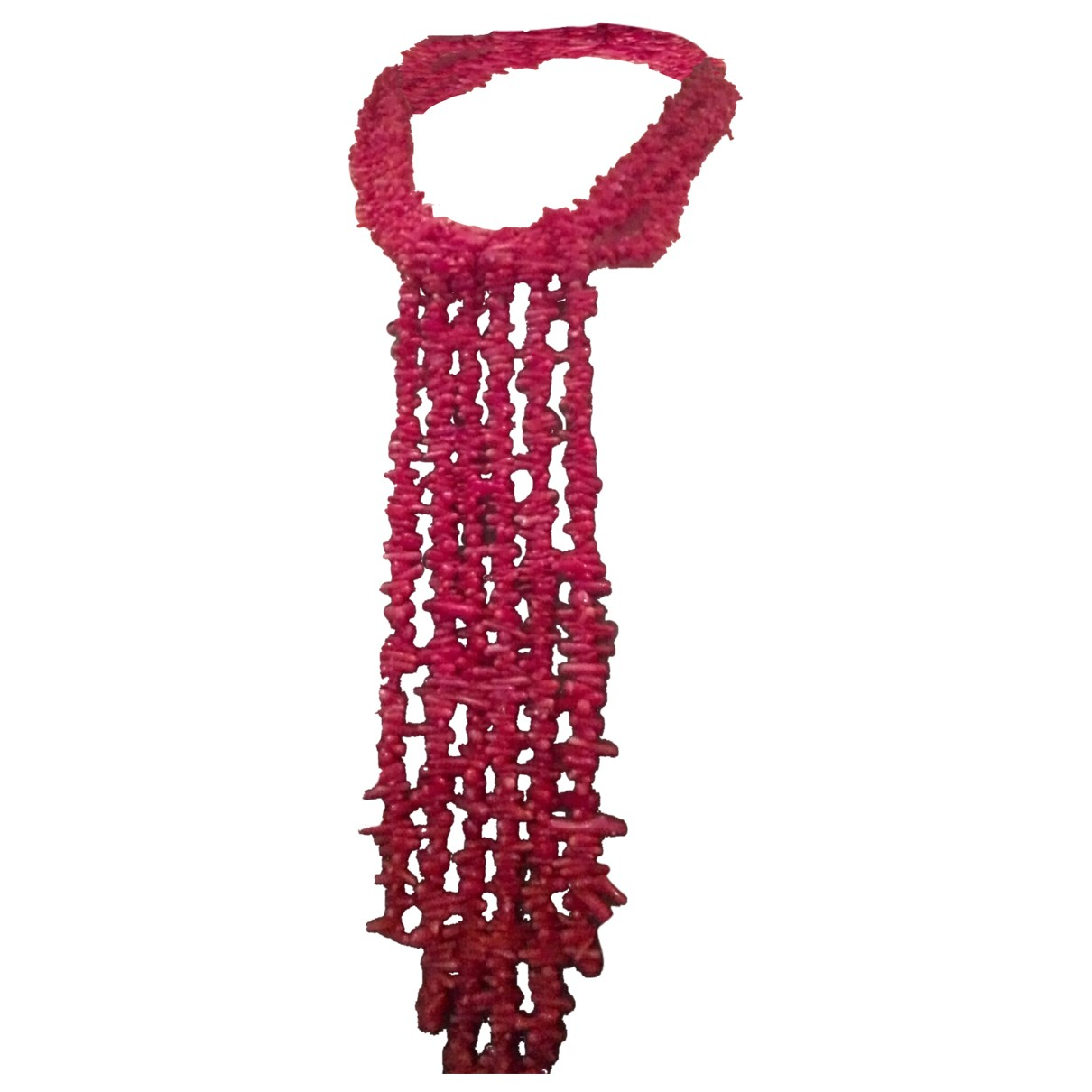 - Collier Corail pour femme en perles - rouge
