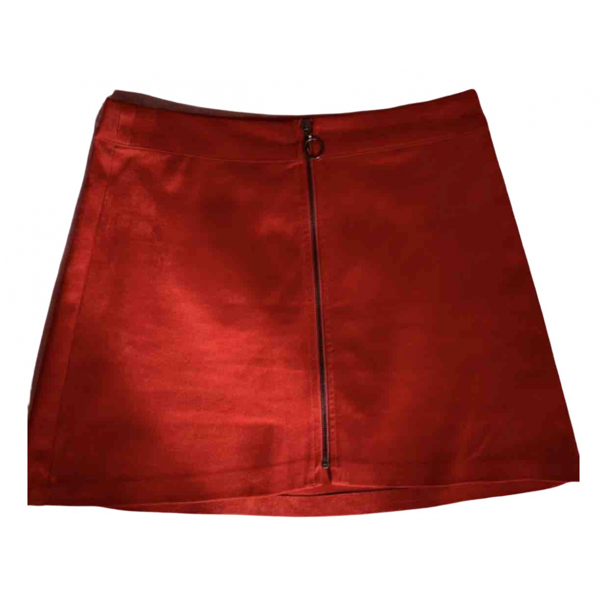 Zara N Red Suede skirt for Women 38 FR
