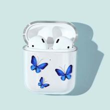 Funda de Airpods con patron de mariposa