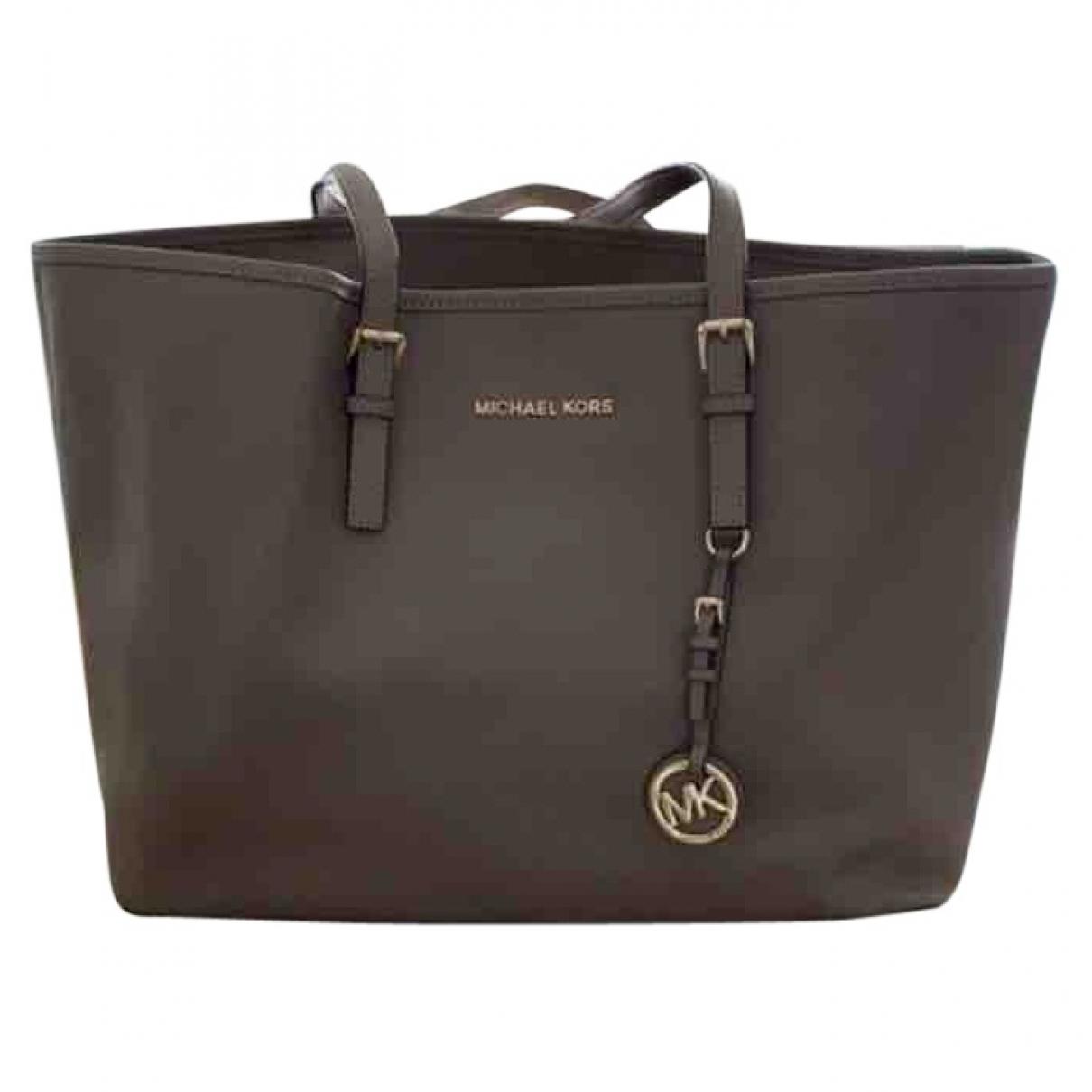 Michael Kors Jet Set Grey Leather handbag for Women \N