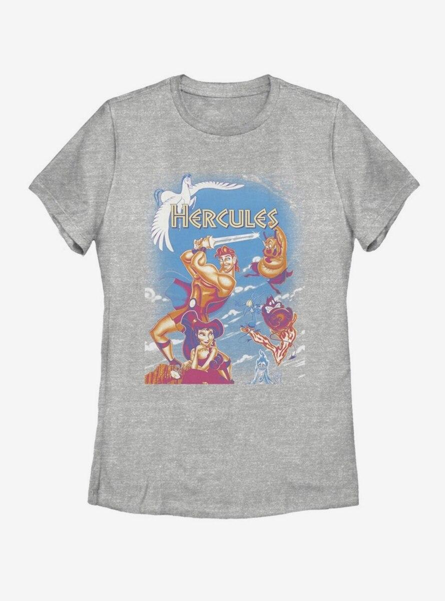 Disney Hercules Box Fade Womens T-Shirt