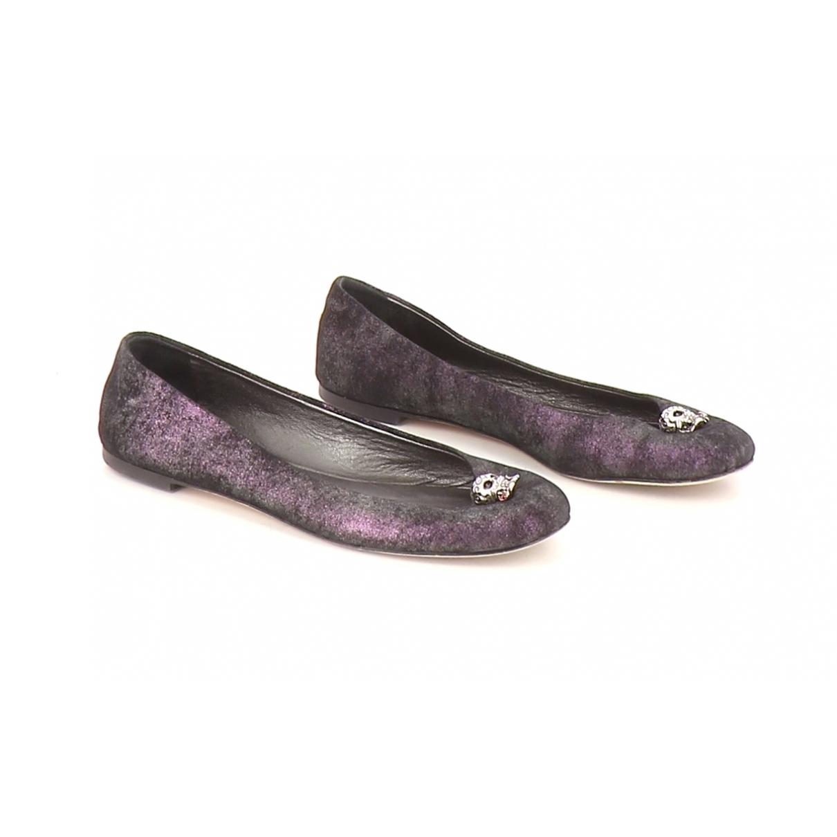 Giuseppe Zanotti - Ballerines   pour femme en toile - violet