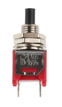 RS PRO Single Pole Single Throw (SPST) Momentary Push Button Switch, 4.95 (Dia.)mm, Panel Mount, 32/50/125V ac