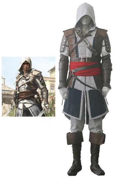 Milanoo Inspired By Assassin's Creed IV Black Flag Edward James Kenway Halloween Cosplay Costume