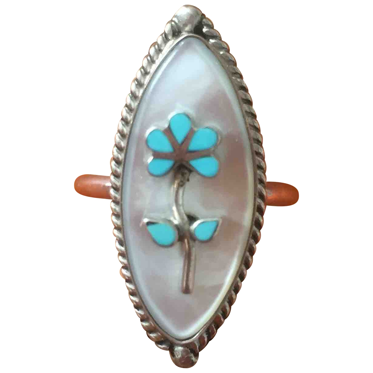 Harpo \N Turquoise Silver ring for Women \N