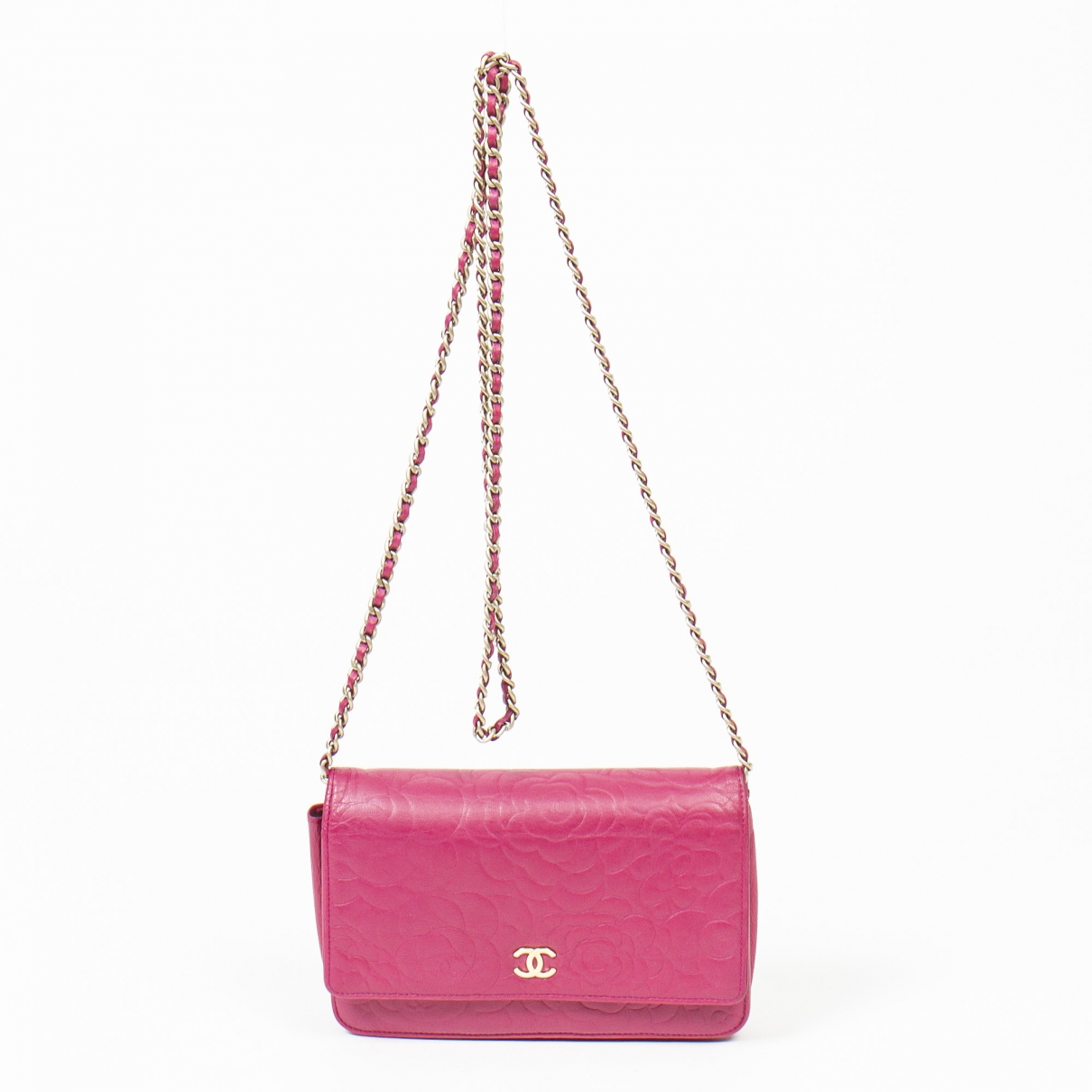 Chanel Wallet on Chain Pink Leather handbag for Women \N