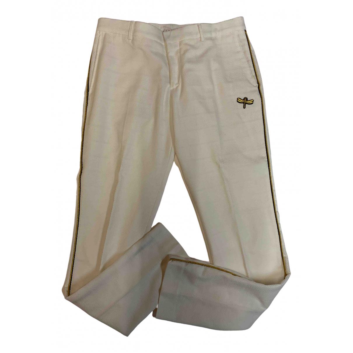 Zara N White Cotton Trousers for Men 32 UK - US
