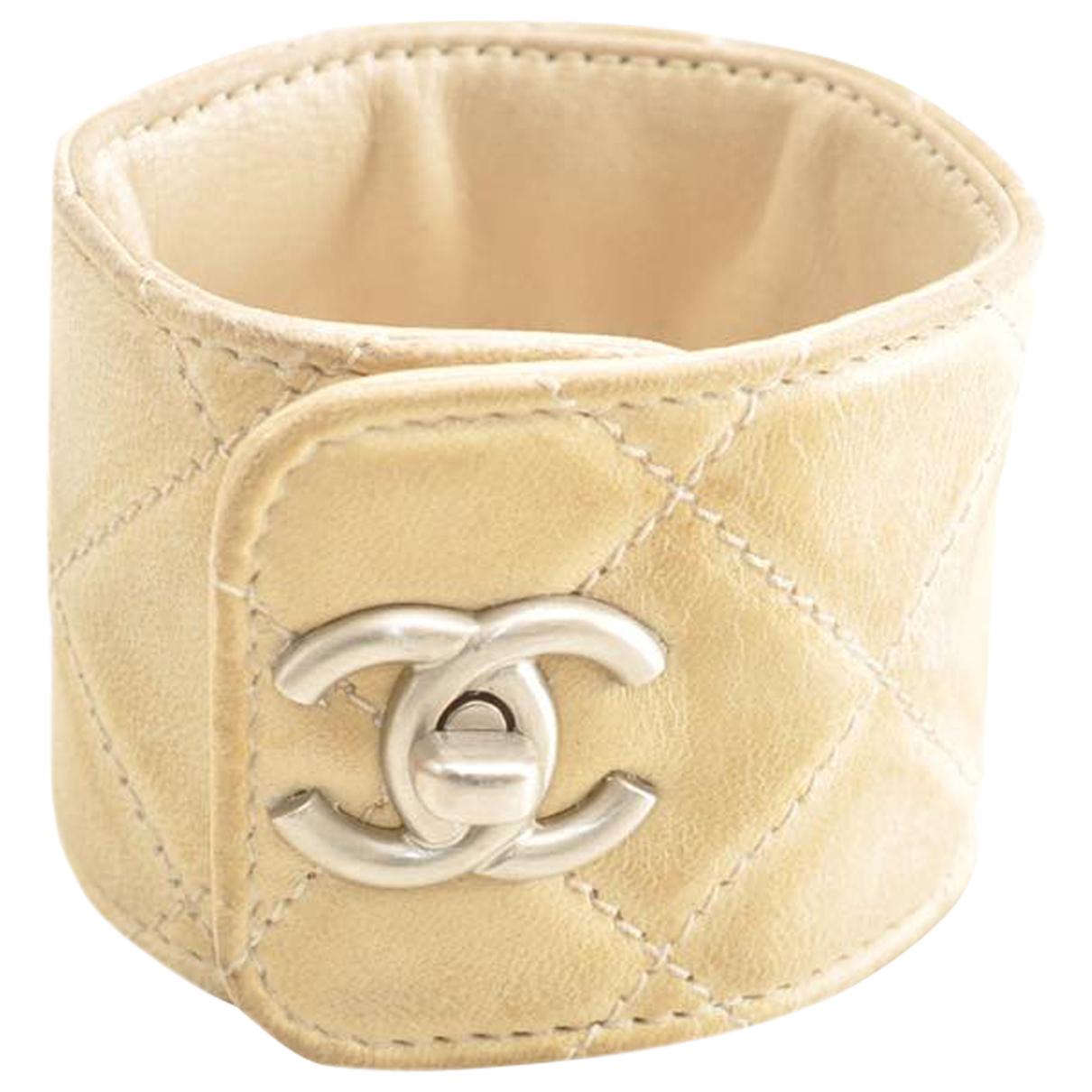 Chanel N Beige Leather bracelet for Women N