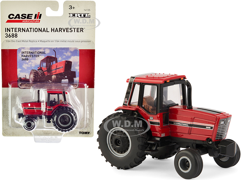 IH International Harvester 3688 Tractor Red Case IH Agriculture 1/64 Diecast Model by ERTL TOMY