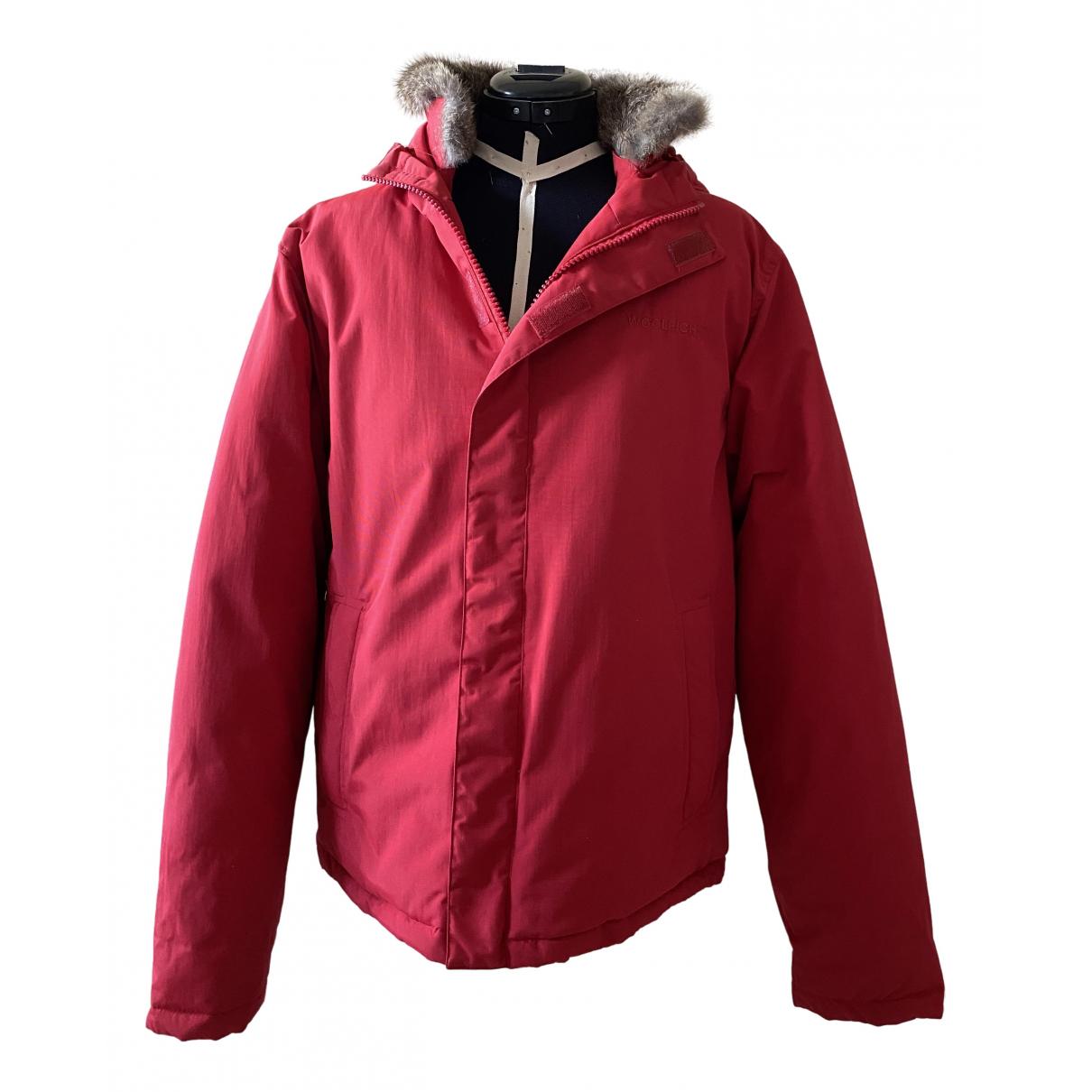 Woolrich - Manteau   pour femme en coton - rouge