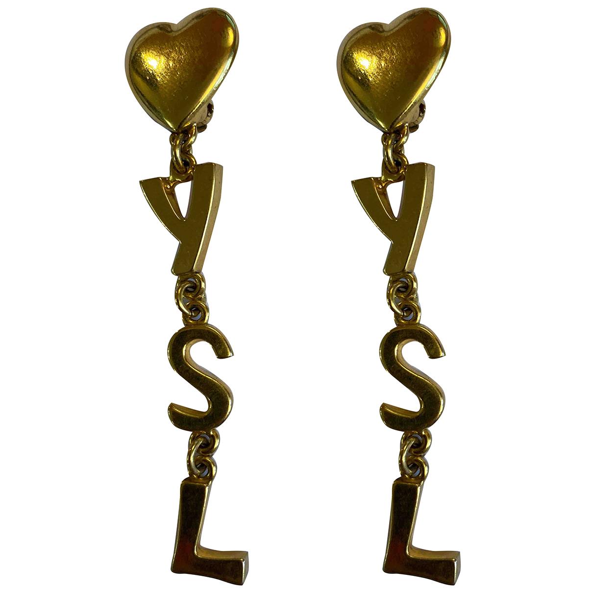 Yves Saint Laurent N Gold Metal Earrings for Women N