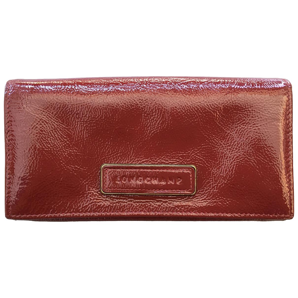Longchamp - Petite maroquinerie   pour femme en cuir verni - rouge