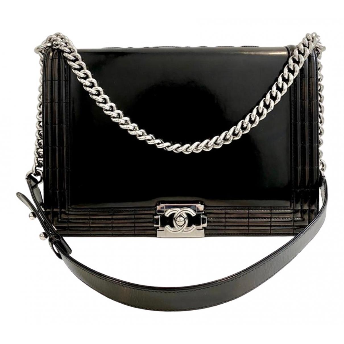 Chanel Boy Black Patent leather handbag for Women \N