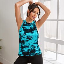 Tie Dye Twist Back Sports Tee