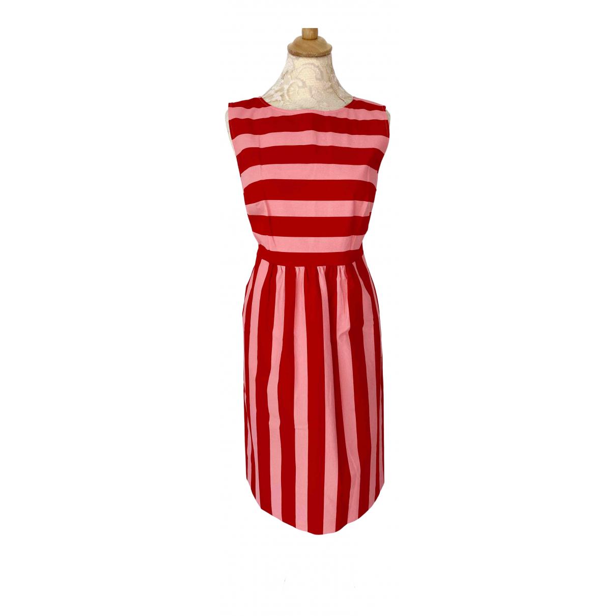 Luisa Cerano - Robe   pour femme en coton - rouge