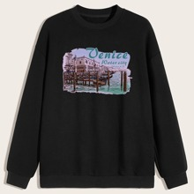 Guys Letter Graphic Sweatshirt